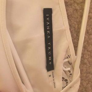 Ivanka Trump Dresses - Ivanka Trump short white semi-formal dress